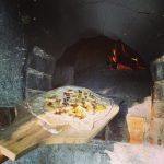 Süssepizza im Steinbackofen